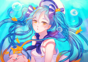 Marine Miku two point oh by Saylor-boo
