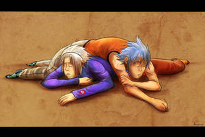 Comission: Soul and Black Star sleeping