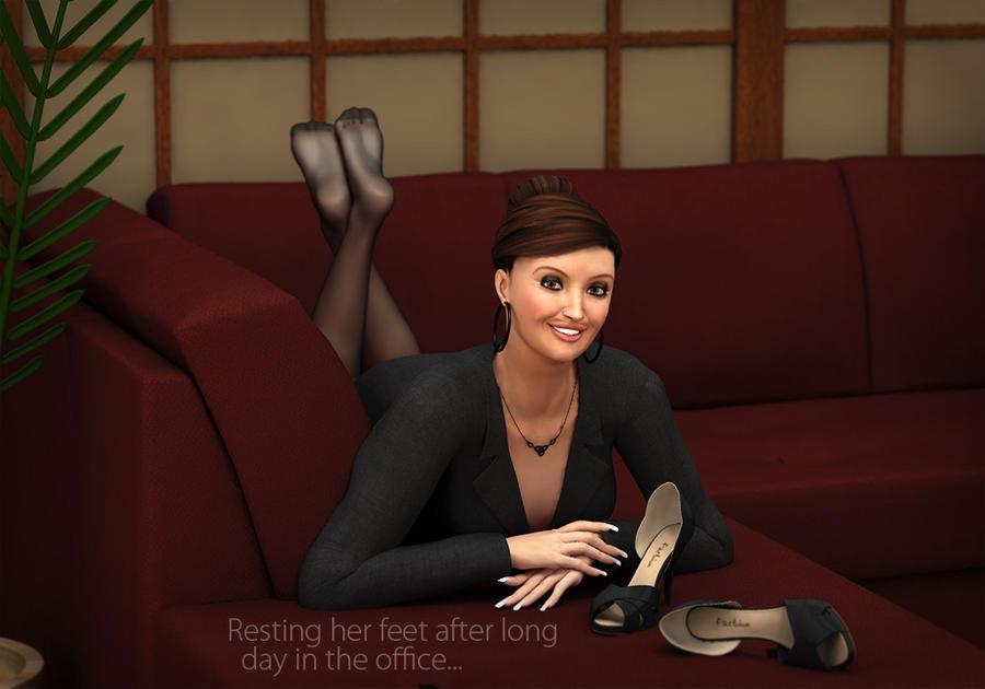 Her Nylon Feet 117