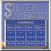 Silver Symbiosis title screen Continue menu mo by C-Hillman