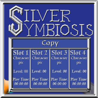 Silver Symbiosis title screen Copy menu mock-u by C-Hillman