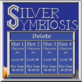 Silver Symbiosis title screen Delete menu mock by C-Hillman