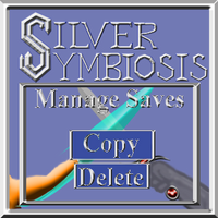 Silver Symbiosis title screen Manage Saves men by C-Hillman