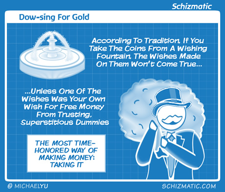 Dow-sing For Gold by schizmatic