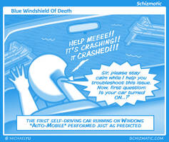 Blue Windshield Of Death by schizmatic
