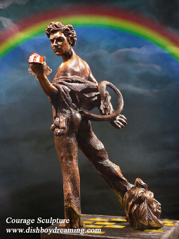 COURAGE sculpture maquette