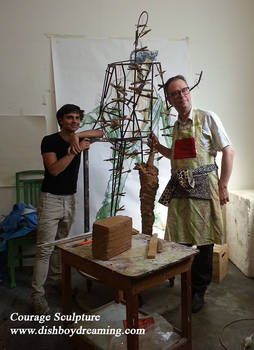 Artist and assistant