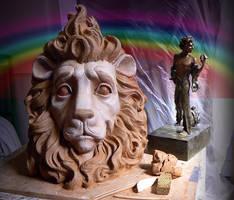 COURAGE lion head