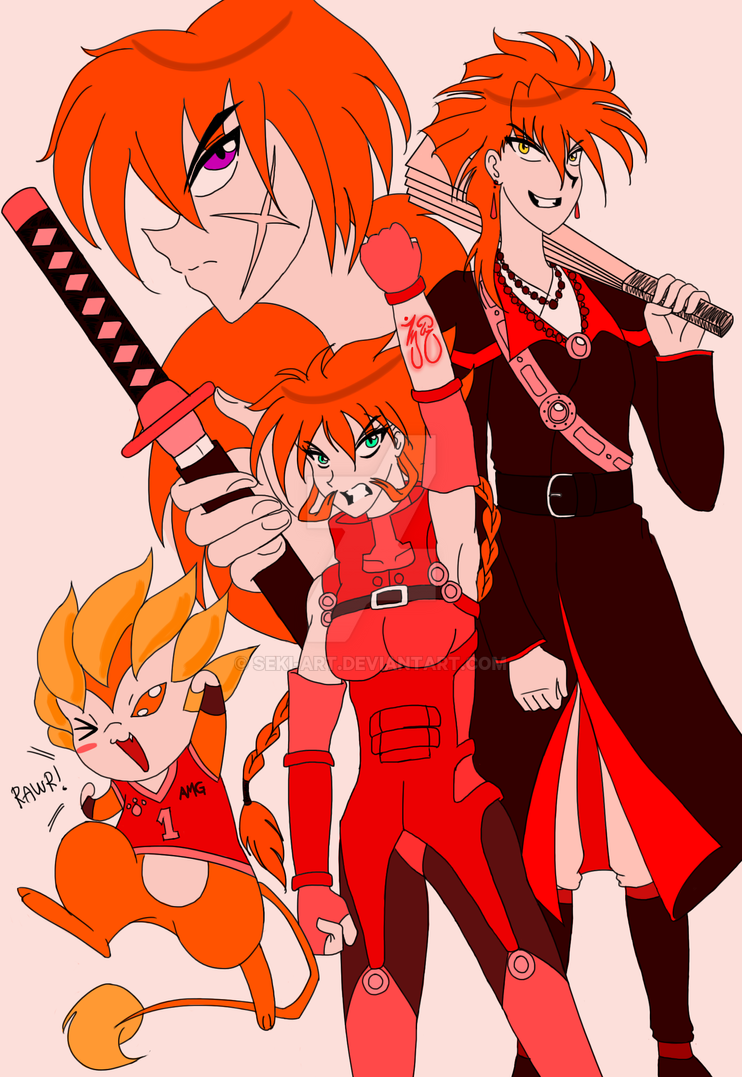Redhead Heroes by Seki-Art