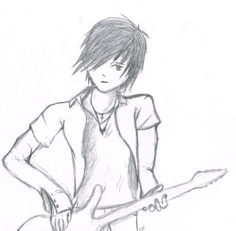 Guitar boy by drawing-paw on deviantART Boy With Guitar Drawing