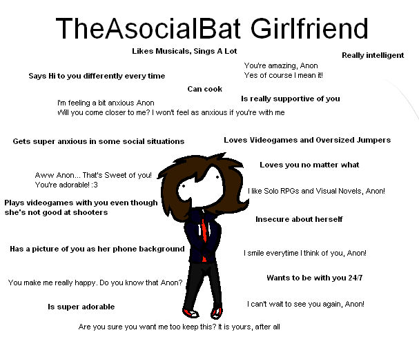 Me As A Ideal Gf Meme by TheAsocialBat on DeviantArt