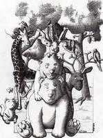 Animais em nanquinho by ATOA