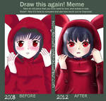 Before after Bunny girl