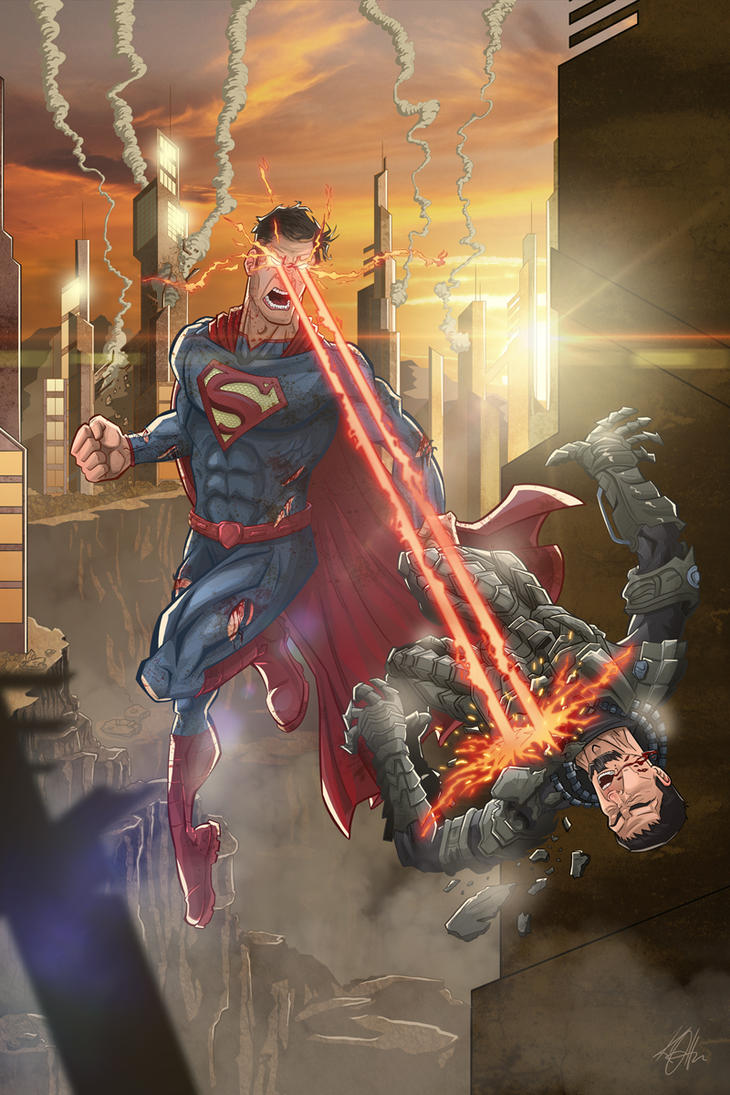Superman Vs Zod for behance and deviant art by Duff03