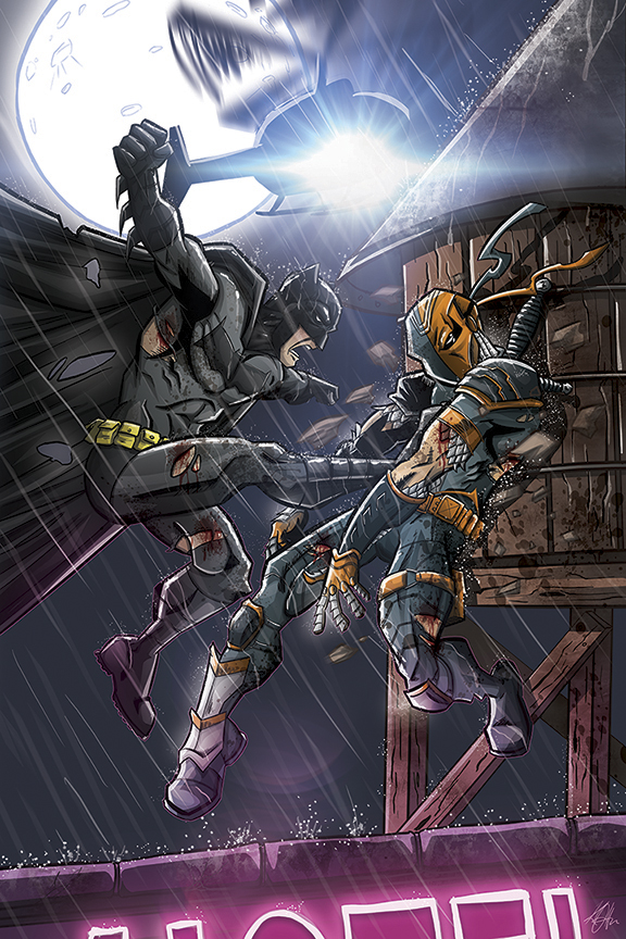 Batman vs Deathstroke poster by Duff03