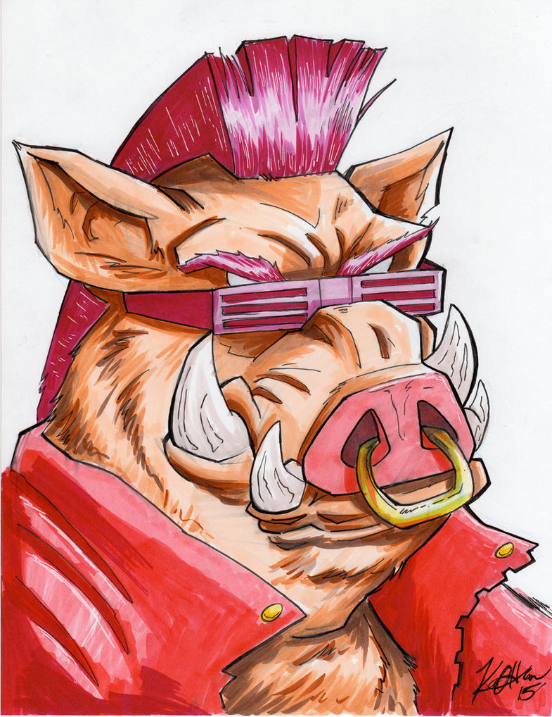 TMNT Bebop - Copic marker 8.5x11 by Duff03