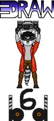 80's Raccoon by DrAw6BD
