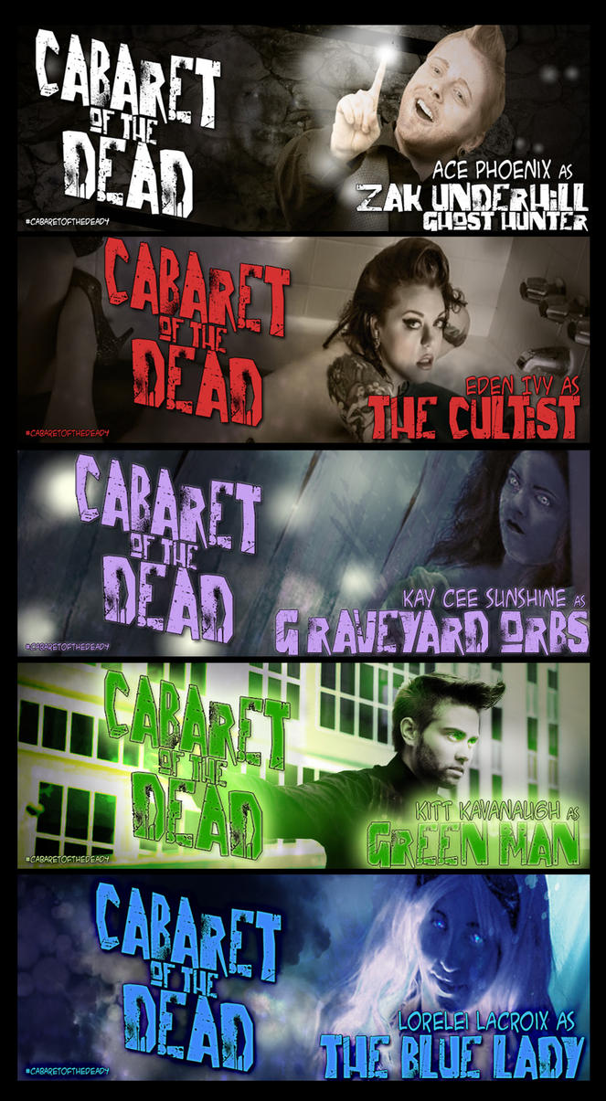 Cabaret of the Dead 4 Facebook Banners by jekylnhyde