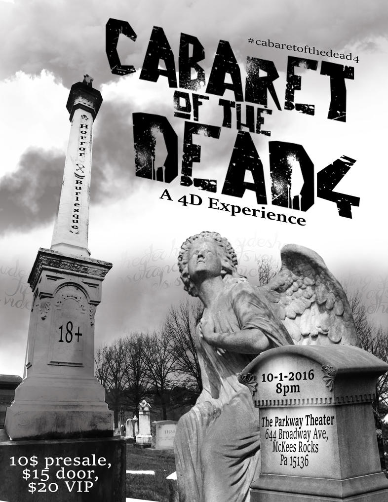 Cabaret of the Dead 4 Ink Lite Flyer by jekylnhyde