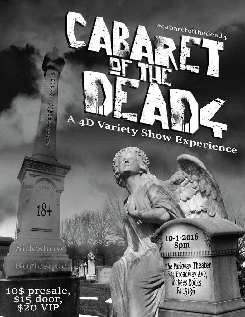 Cabaret of the Dead 4 Variant Flyer by jekylnhyde