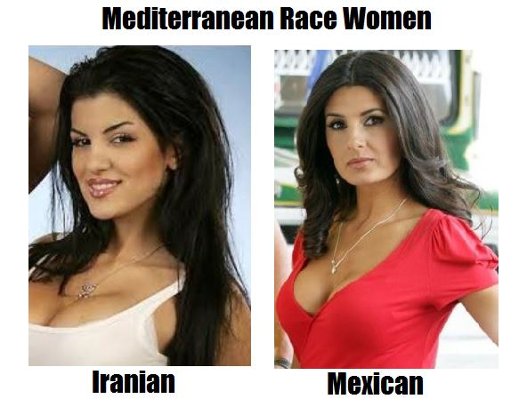 Mediterranean Race Women: Iranian and Mexican by ...
