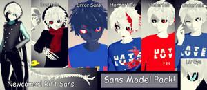 Sans Model Pack- DL (10 Watchers Gift) by The-Enticing-Empty