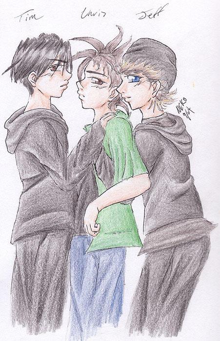 Boys embrace by GenkiShuichi