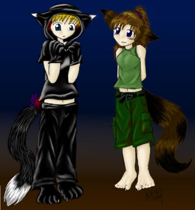 dragon and kitty halloween by GenkiShuichi