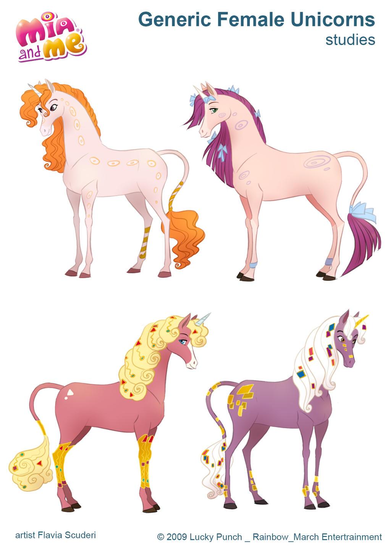 Mia and me unicorn coloring pages - Skudo 61 14 Mia And Me_female Unicorns_scuderi By Skudo