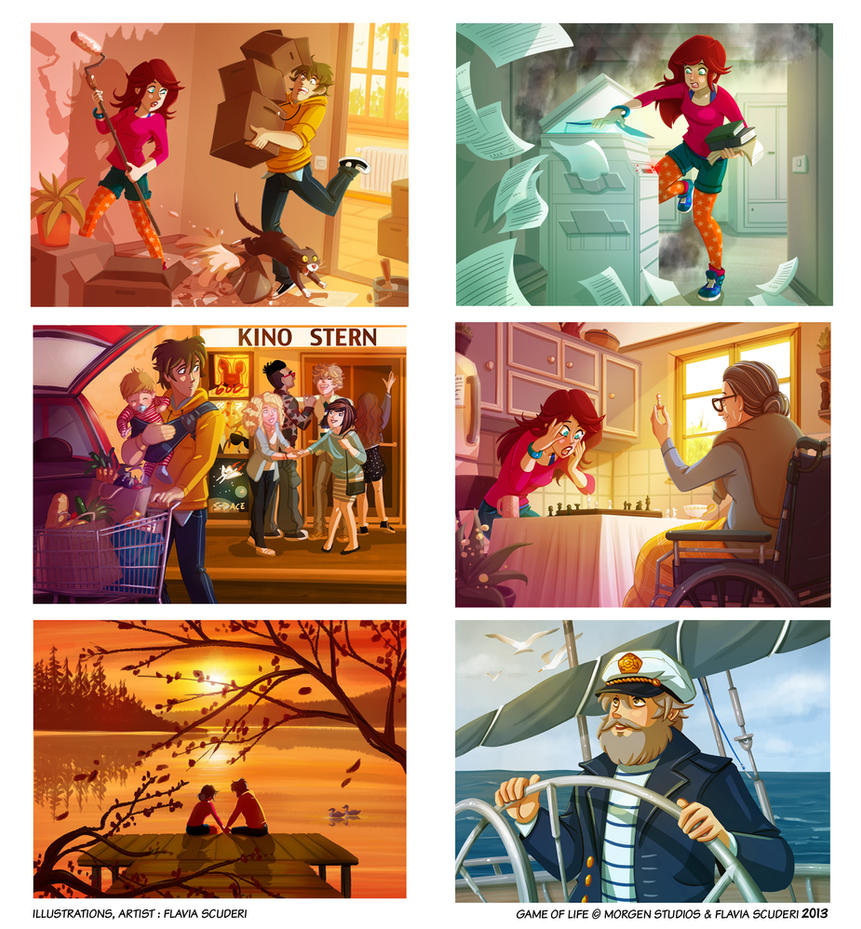GAME OF LIFE illustrations 2 Flavia Scuderi by Skudo
