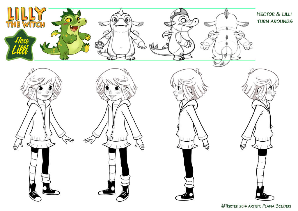 Hexe Lilli the Witch and Hector turnaround by Skudo