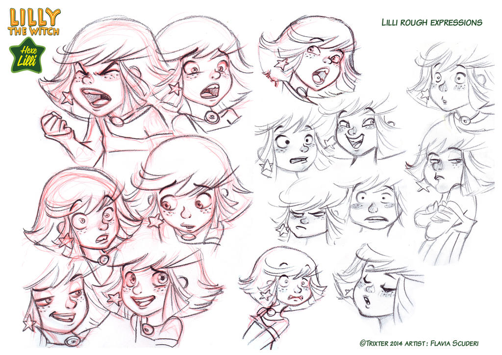 Hexe Lilli the Witch expressions by Skudo