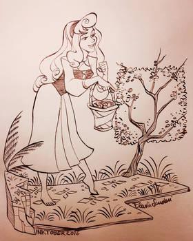 Aurora Sleeping Beauty InkTober 2016 03