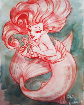 Mermaid and little seahorse Skudo