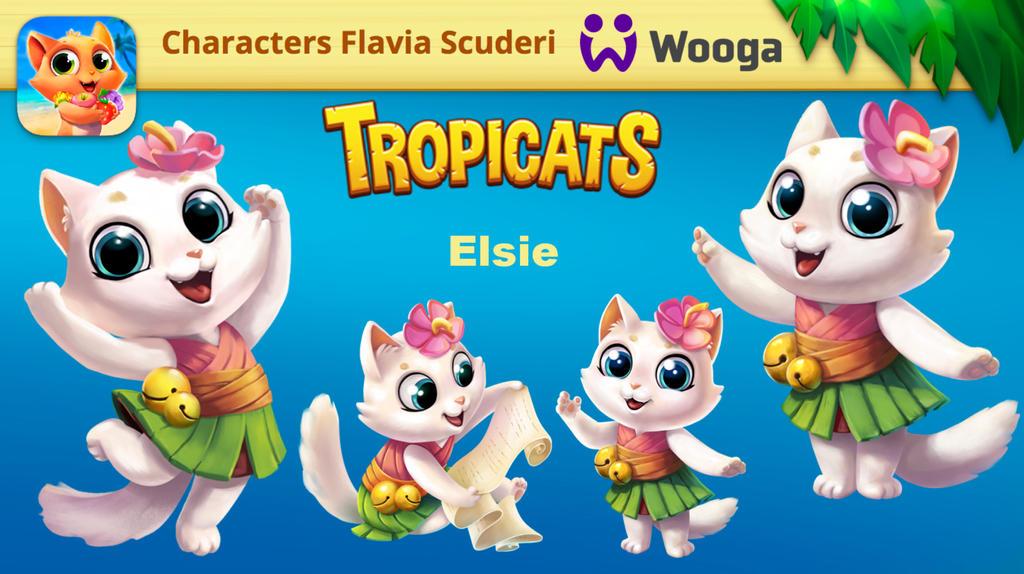Tropicats Elsie design by Skudo