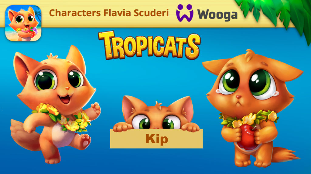 Tropicats Kip design by Skudo