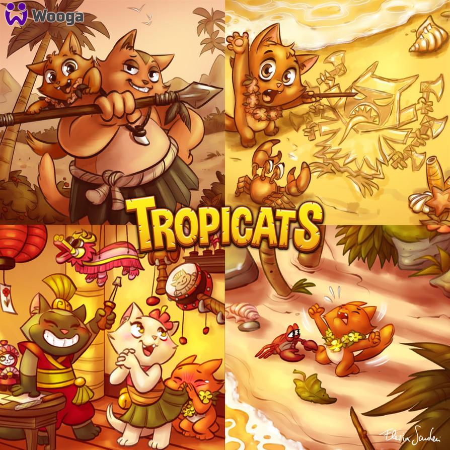 Tropicats Kip  illu by Skudo