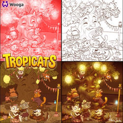Tropicats Tika tree  illu by Skudo