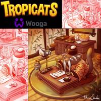 Tropicats Mee Li teacher  illu