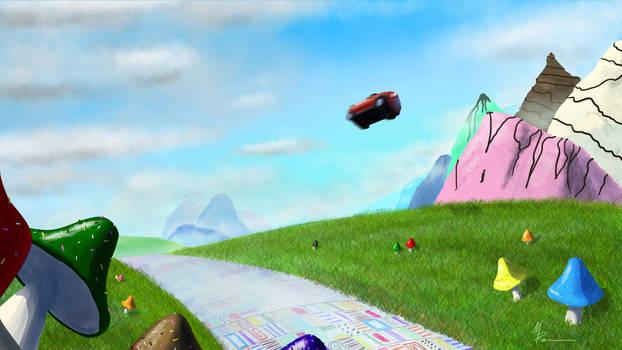 Flying through Wonderland