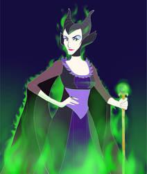Maleficent by JulieDraw2046