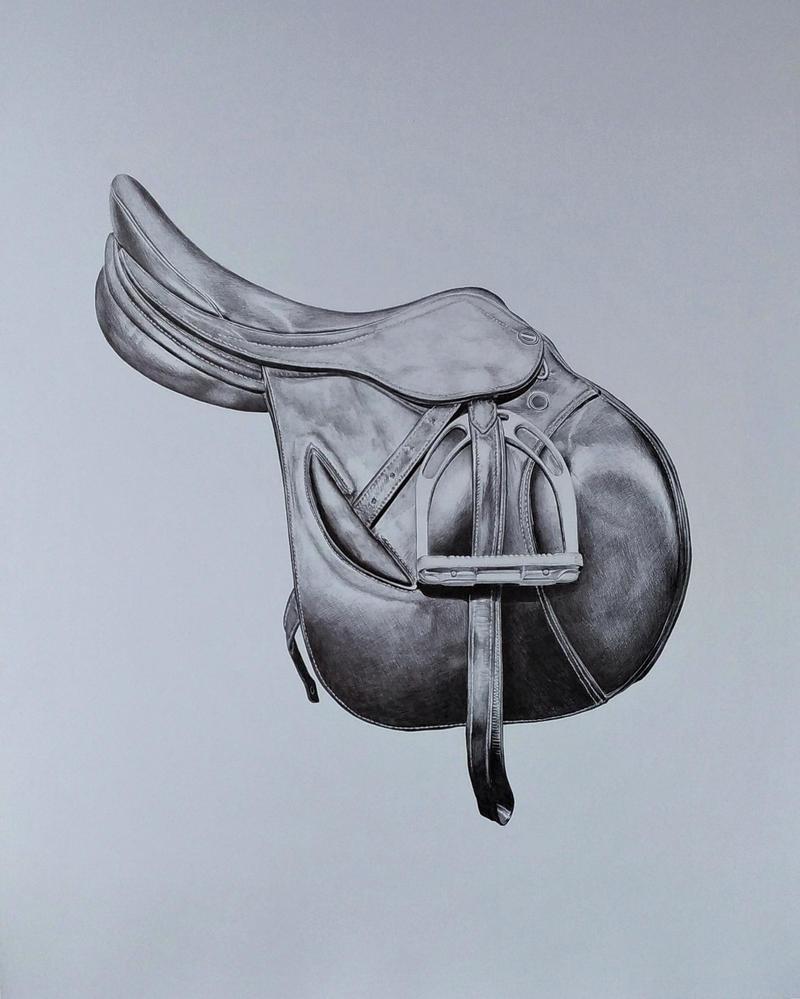 Horse saddle - biro by Flotter