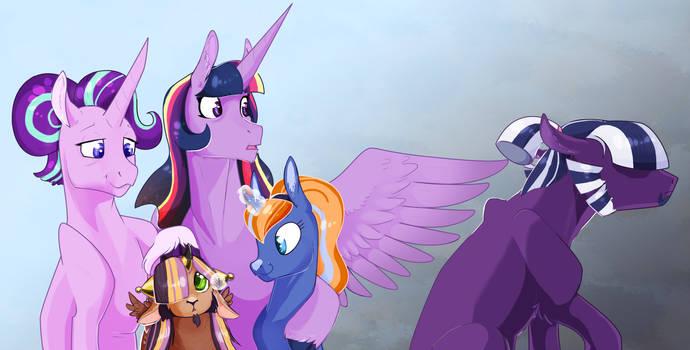 Family portrait: Twilight Sparkle