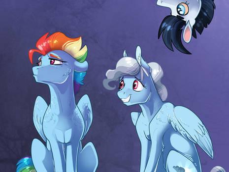 Family portrait: Rainbow Dash
