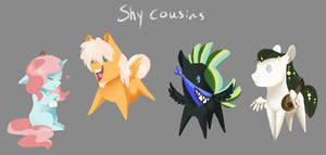 Shy cousins