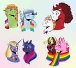 Pride ponies pt. 1 by Vindhov