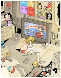 las caricaturas me hacen llora by monociclo