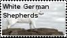 White German Shepherd Stamp by WildWarriorWolf