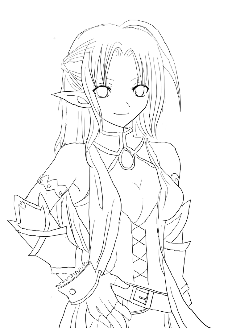 Sai Lineart : My first drawing on sai lineart by esthego deviantart