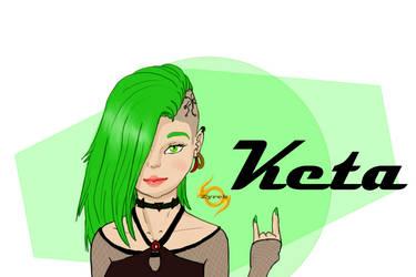 Back to DA: OC portrait - Keta